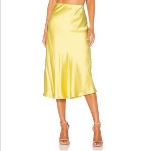 NWT Generation Love Astrid Skirt Silk Yellow XL